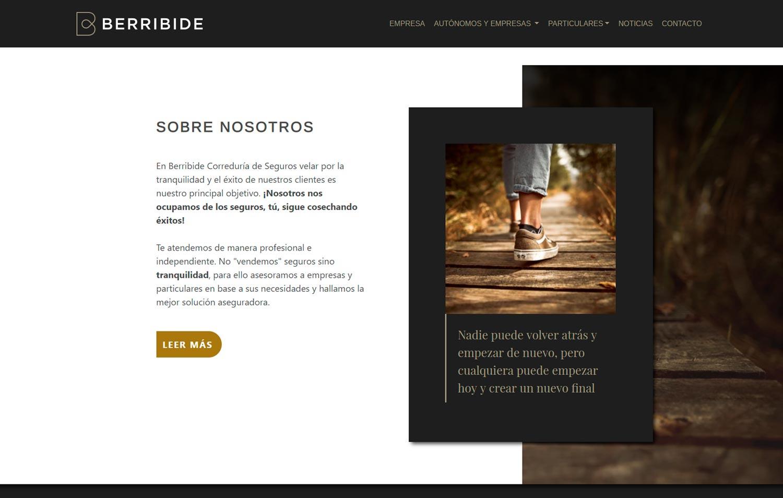 Web Berribide Correduría Vitoria-Gasteiz